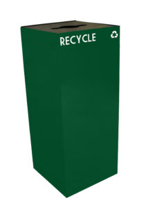 Witt Green 36 Gallon Geocube Recycling Receptacle with Combination Opening and Logo