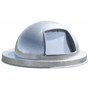 55 Gallon Steel Dome Top Drum Lid with Push Door Galvanized