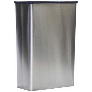 22 Gallon Witt Indoor Stainless Steel Rectangular Wastebasket no Lid