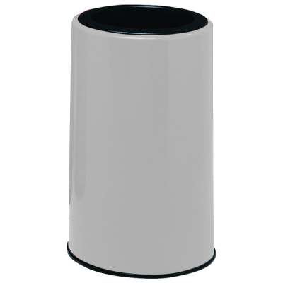 Witt Waste Receptacles White Fiberglass Round Side Entry