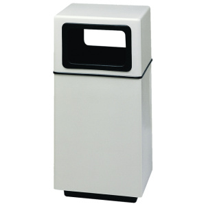 White Fiberglass Square Side Entry Receptacles with Liners