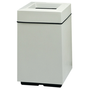 White Fiberglass Square Top Entry Receptacles with Liners