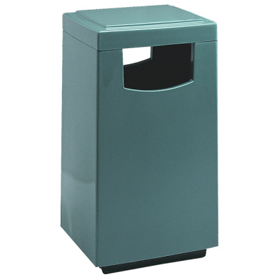 Witt Waste Containers Blue Fiberglass Square Side Entry