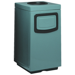 Blue Fiberglass Square Side Entry Receptacles with Liner
