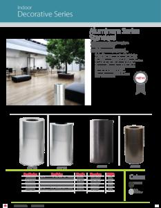 Witt Indoor Decorative Series Aluminum Standard Catalog Page Transparent