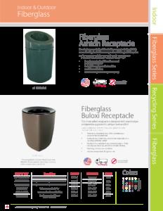 Witt Indoor and Outdoor Fiberglass Ashton and Buloxi Receptacle Catalog Page Transparent