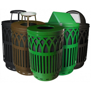 Witt Avant Garde Collection Green, Brown and Black Receptacles