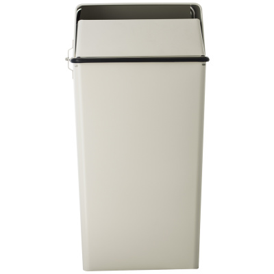 Witt Industrial Trash Can 36 Gallon Classic Security with Lock and Key in Almond