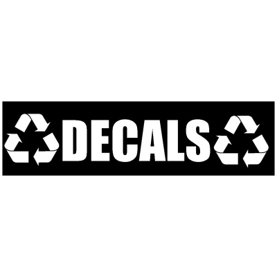 Black Decals Banner with Recycle Logo