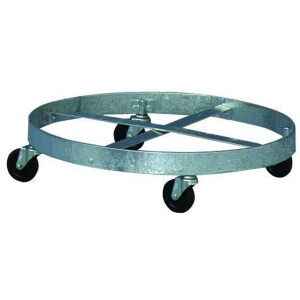 Witt Outdoor Galvanize Trash Can Steel Drum Dolly with Wheels