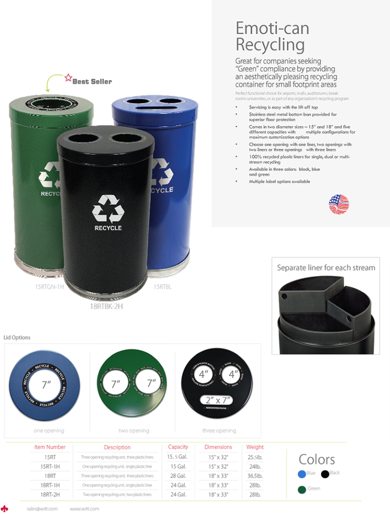 Witt Emoti-can Recycling Catalog Page Transparent