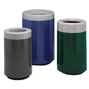 Witt Galvanize Trash Can Multi-Colored Fiberglass Round