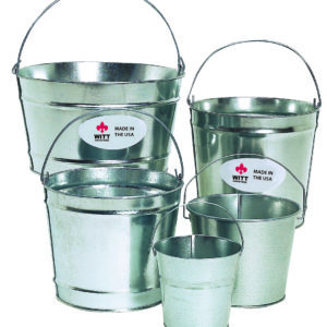 Witt Made in the USA Galvanized Pails with Handles