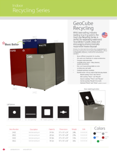 Witt Indoor Recycling Series Geocube Catalog Page Transparent