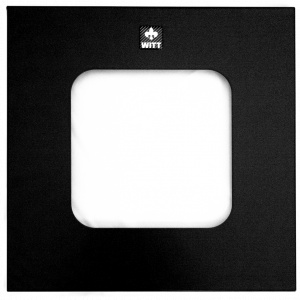 Witt Geocube Flat Top Lid with Square Opening in Black