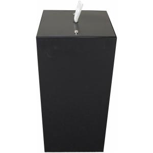 Witt Black Square Indoor Wipe Dispenser