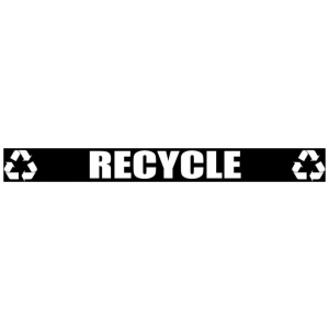 Black Recycle Banner with Recycle Logo