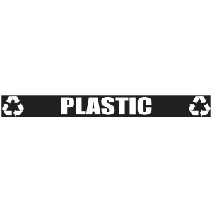 Black Plastic Banner with Recycle Logo