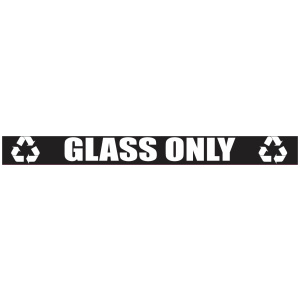 Black Glass Only Banner with Recycle Logo