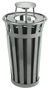 Witt Wydman Collection 24 Gallon Receptacle in Slate with Ash Top
