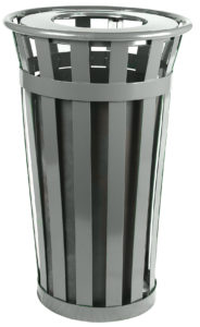 Witt Wydman Collection 24 Gallon Receptacle in Slate with Flat Top