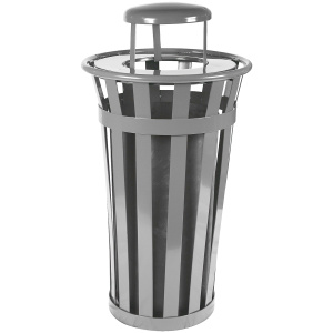 Witt Wydman Collection 24 Gallon Receptacle in Slate with Rain Top