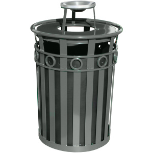 Witt Decorative Collection 36 Gallon Receptacle in Slate with Ash Top