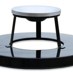36 Gallon Steel Receptacle Ash Urn Lid in Black