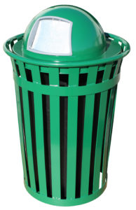 Witt Wydman Collection 36 Gallon Receptacle in Green with Dome Top