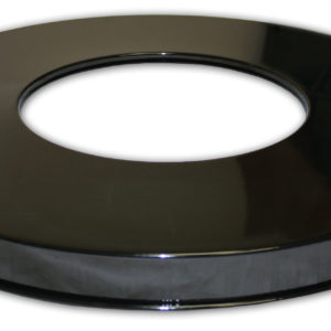 Steel Flat Top Lid with Round Center Opening in Black