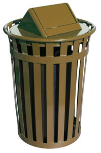 Witt Wydman Collection 36 Gallon Receptacle in Brown with Swing Top
