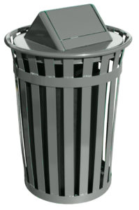 Witt Wydman Collection 36 Gallon Receptacle in Slate with Swing Top