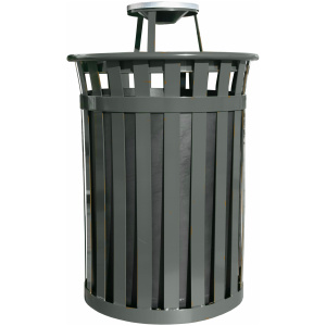 Witt Wydman Collection 50 Gallon Receptacle in Slate with Ash Top