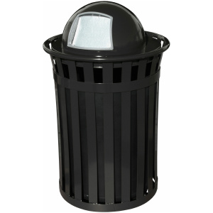 Witt Oakley Collection 50 Gallon Receptacle in Black with Dome Top