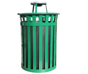 Witt Wydman Collection 50 Gallon Receptacle in Green with Ash Top