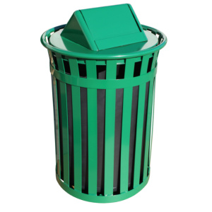 Witt Wydman Collection 50 Gallon Receptacle in Green with Swing Top