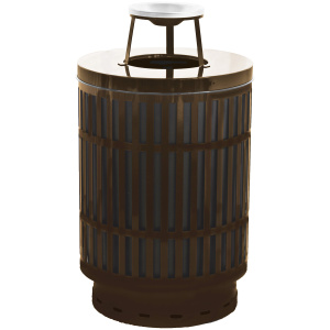 Witt 40 Gallon Brown Mason Collection Receptacle with Ash Top