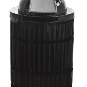 Witt 40 Gallon Black Mason Collection Receptacle with Dome Top