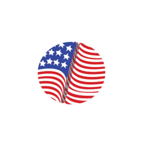 Made In USA Logo with American Flag Pathed