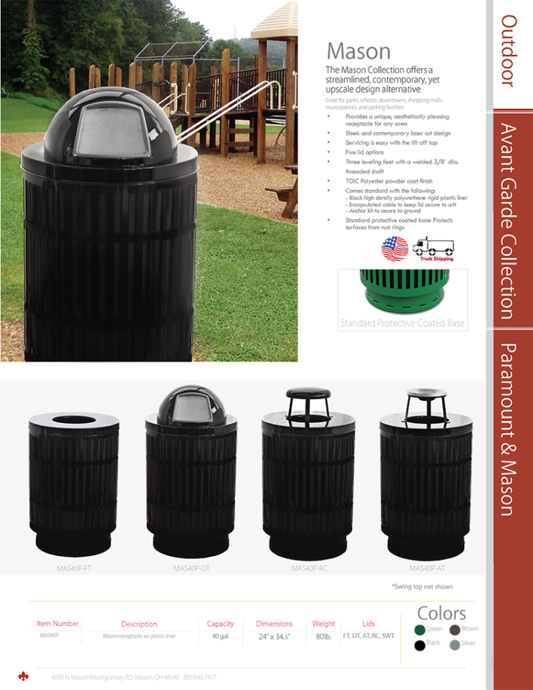 Witt Outdoor Mason Catalog Page Transparent