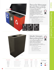Witt Recycle Message Board and Multi-Stream Unit Catalog Page Transparent