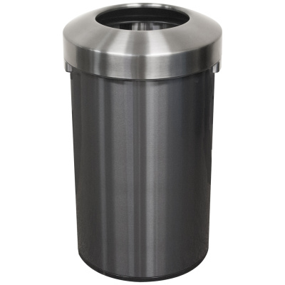 Witt Commercial Waste Receptacle Monarch Black Series Stainless Steel Open Top