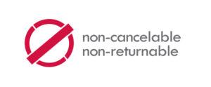 Non-Cancelable & Non-Returnable Logo