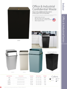 Witt Indoor Office and Industrial Confidential Waste Catalog Page Transparent