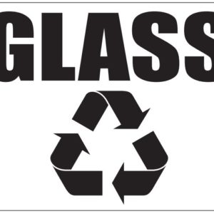 Black Glass Label in Box with Recycle Logo