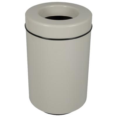 Witt Waste Receptacle White Round Side Fiberglass