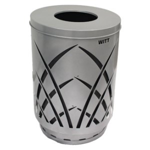 Witt Sawgrass Collection 40 Gallon Receptacle in Slate with Flat Top