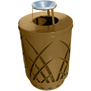 Witt 40 Gallon Brown Covington Collection Receptacle with Ash Top