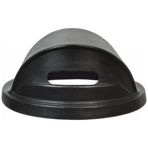 Plastic Recycle Hood Top Lid with 2 Slot Openings in Black