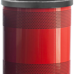55 Gallon Stadium Series Standard Receptacle with Plastic Liner in Red Baron with Dome Top